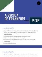 2 A Escola de Frankfurt