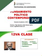 12va Clase de Pensamiento Politico Contemporaneo