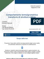 Comportamento termoigrometrico transitorio di strutture edilizie