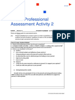 professional assessment activity 2 worksheet 1