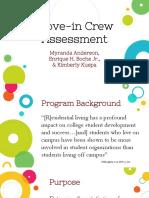 move-in assensment presentation