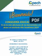Panel de Bienvenida Alumnos 2019