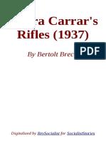 Senora Carrar's Rifles by Bertolt Brecht