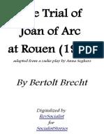 The Trial of Joan of Arc by Bertolt Brecht