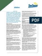 Vitamin d Uv Radiation Info Sheet