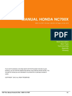 Manual Honda Nc700x