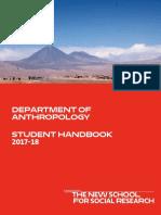 Anthropology Student Handbook 2017 2018
