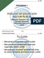 ASP Pt 1 Pengantar Akuntansi Sektor Publik