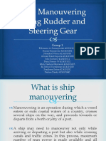 Ship Manouvering Using Rudder and Steering Gear