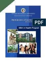 Mba in Health Progr