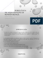 Calidad Microbiológica Del Agua Municipio de Rondón Boyacá