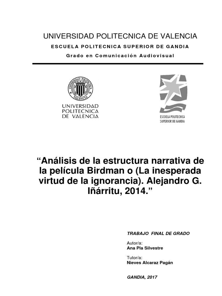 Pla Análisis De La Estructura Narrativa De La Película