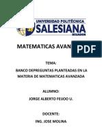 Preguntas Teoricas de Matematicas Avanzada..