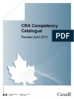 CRA Ca.nadian Competency Catalogue (Catologo de Competências)
