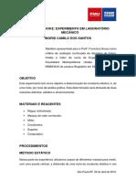 Relatório Lei de Hooke - Laboratório