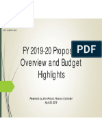 2019-20 Proposed Budget Presentation 042919