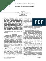 Thermal Behavior of Composite Girder Bidges