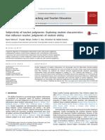 Subjectivity of Teacher Judgments