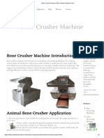 Bone Crusher Machine, Bone Powder Machine Price