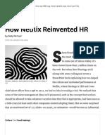 How Netflix Reinvented HR - HBR