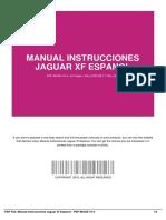 Manual Instrucciones Jaguar Xf Espanol