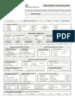 Questionário socioeducacional - Proind/UFMT