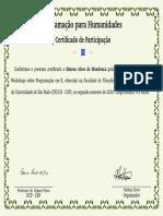Certificado Curso R