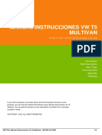 Manual Instrucciones Vw T5 Multivan