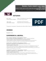 CV Lae. Karla Luna