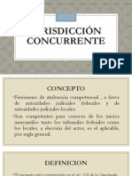Jurisdicción concurrente