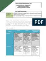 """RAP1_EV03 """"Tabla Comparativa Entre Código, Norma y Especificación en Soldadura"""""""