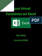 3 Clase Función Extrae en Excel 2010