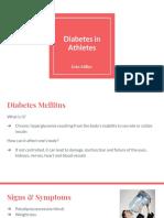 diabetes in athletes