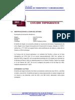 3.3 Informe Topografico La Mina