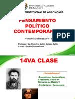 14va Clase de Pensamiento Politico Contemporaneo