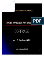 Cours Coffrage