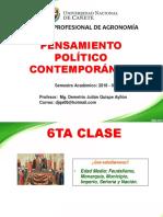 6ta Clase de Pensamiento Politico Contemporaneo