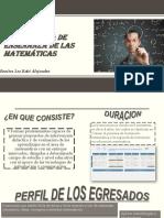 Licenciatura de Enseñanza de Las Matemáticas