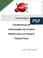 Manual WebISS V5 - Transferência de Autorizações Do Usuário Master Para Um Usuário Pessoa Física - Versão 5.0
