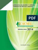 Memoria Cacsel 2014