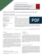 Aislamiento y elucidación de la estructura principal de la ezetimiba