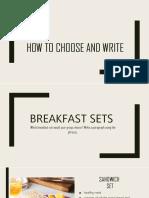 Making a Choice (SECTION B UPSR)