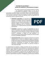 Evidencia Instrumentos de Evaluación y Mecanismos de Mejora sena