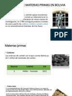 Existencia de Materias Primas en Bolivia
