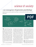 The Emergence of Genomic Psychology