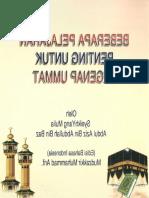Beberapa Pelajaran Penting Untuk Seluruh Umat Islam