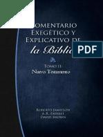 Comentario Exegetico y Explicativo de La Biblia Nuevo Testamento