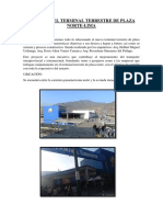Informe Del Terminal Terrestre de Plaza Norte