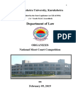Moot Court Problem, Rules and Registration Form