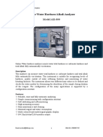 AH-800 Online water Total Hardness Alkali Analyzer